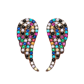 Push Back Angel Wing Design Wholesale 925 Sterling Silver Earring