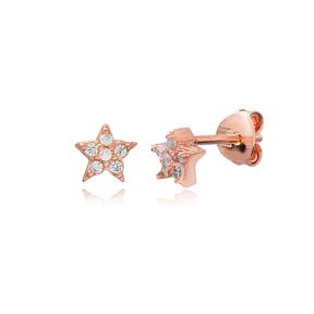 Star Shape Stud Earring Wholesale Handcmade Sterling Silver Earring