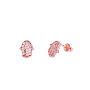 Stud Hamsa Design Earring Sterling Silver Wholesale Handcrafted Silver Earring
