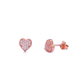 Heart Stud Earring Wholesale Handcrafted Sterling Silver Earring