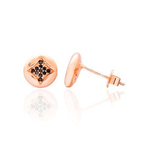 Lozenge Stone Design Turkish Wholesale 925 Sterling Silver Jewelry Stud Earring