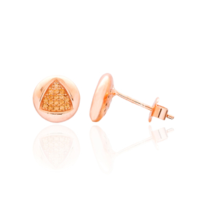 Triangle Design Turkish Wholesale 925 Sterling Silver Jewelry Stud Earring