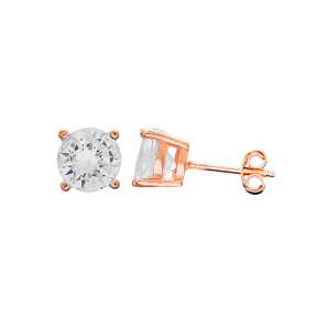 Solitaire Stud Silver Earring Wholesale 925 Sterling Silver Jewelry