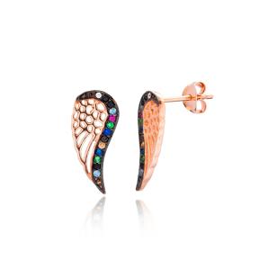Minimal Wing Silver Earring Wholesale 925 Sterling Silver Jewelry