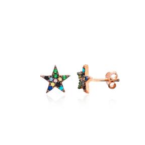 Minimal Star Silver Earring Wholesale 925 Sterling Silver Jewelry