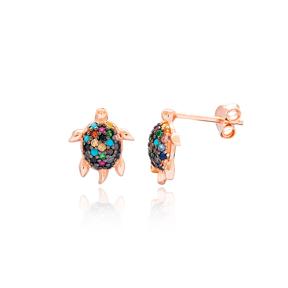 Minimal Turtle Silver Earring Wholesale 925 Sterling Silver Jewelry