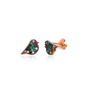 Minimal Bird Silver Earring Wholesale 925 Sterling Silver Jewelry