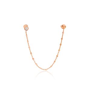 Single Double Earrings Turkish Wholesale 925 Sterling Silver Jewelry