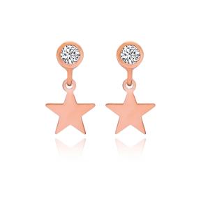 Star Stud Earrings Turkish Wholesale 925 Sterling Silver Jewelry