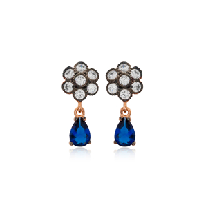 Elegant Earring Turkish Wholesale Handmade 925 Sterling Silver Jewelry