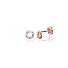 Minimalist Hollow Earring Turkish Wholesale Handmade 925 Sterling Silver Jewelry