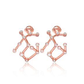 Sagittarius Dainty Astrology Zodiac Sign Earring 925 Sterling Silver Wholesale Jewelry
