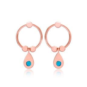 Wholesale Drop Design Hollow Earrings Handmade Turkish 925 Sterling Silver Jewelry