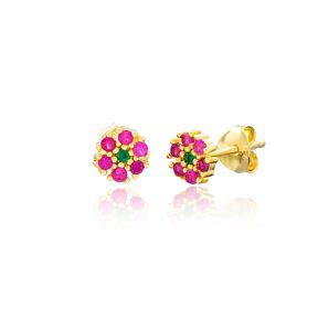 Minimalist Flower Design Stud Earrings Turkish Wholesale 925 Sterling Silver Jewelry