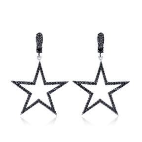 Trendy Star Shape Stud Earrings Wholesale Turkish Handmade 925 Sterling Silver Jewelry