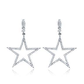 Fashion Star Shape Stud Earrings Wholesale Turkish Handmade 925 Sterling Silver Jewelry