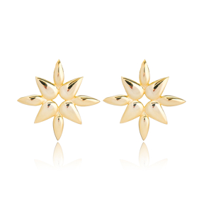 Plain Stud Earring Turkish Wholesale Handmade 925 Sterling Silver Jewelry