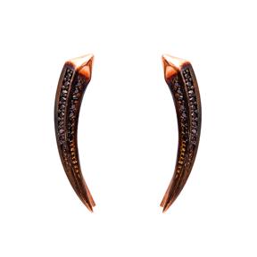Light Black Zircon Turkish Wholesale Handcrafted Silver Earring