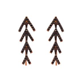 Pointe Shape Ear Cuff Earring Turkish Wholesale Handcrafted Silver Earring