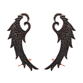 Ear cuff Turkish Wholesale Handcrafted Angel Wing Silver Earring