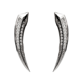 Point Shape Crawlers Earring Turkish Wholesale 925 Sterling Silver Jewelry
