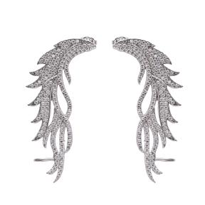 Angle Wing Ear cuff Turkish Wholesale Handcrafted Silver Earring