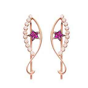 Silver Ear Cuff Eye Earring Turkish Wholesale Handcrafted Jewelry