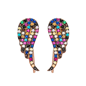 Angel Wing Ear Jackets Turkish Wholesale Sterling Silver Earring