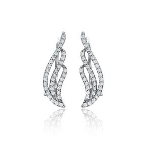 Dainty Design Earring Turkish Wholesale Handmade Fashion 925 Sterling Silver Jewelry