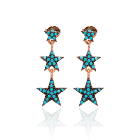 Star Earrings In Turkish Wholesale Handmade Sterling Silver Earring