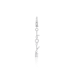 Single Love Long Earrings Wholesale 925 Sterling Silver Jewelry