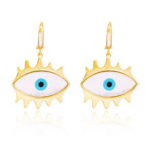 Evil Eye Design Earring In Turkish Wholesale 925 Sterling Silver Earring