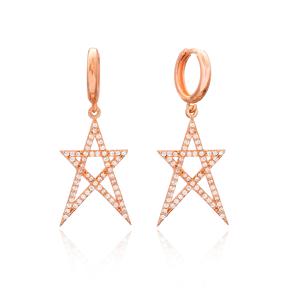Star Dangle Earring Wholesale Handmade 925 Sterling Silver