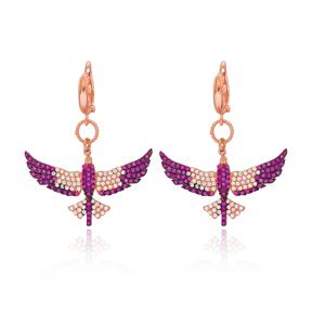 Phoenix Bird Silver Earring Wholesale 925 Sterling Silver Jewelry