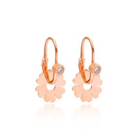 Dangle Flower Earring Wholesale 925 Sterling Silver Jewelry