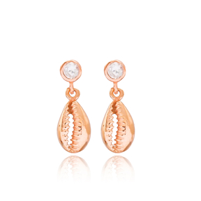 Shell Design Dangle Earring Wholesale 925 Sterling Silver Jewelry