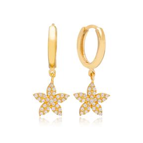 Flower Earring Turkish Wholesale Handmade 925 Sterling Silver Jewelry