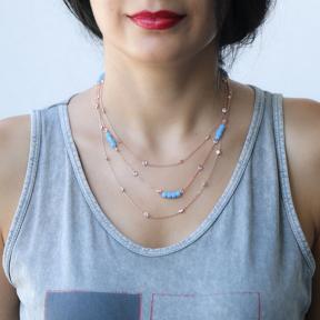 Minimalist Design Turkish Wholesale Handmade Silver Zirconia Stone Necklace