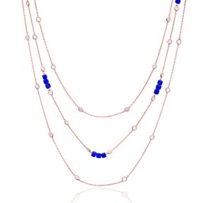 Minimalist Design Turkish Wholesale Handcrafted Silver Zirconia Stone Necklace