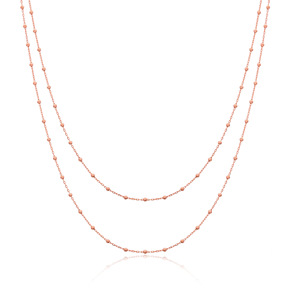 Minimalist Simple Design Turkish Wholesale Handcrafted 925 Silver Long Necklace