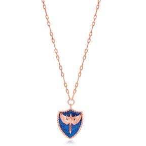 Medallion Enamel Angel Design Pendant Wholesale Turkish Sterling Silver Jewelry