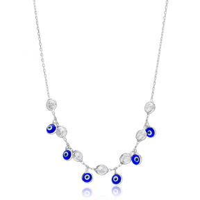 Evil Eye Silver Necklace Turkish Wholesale Sterling Silver Jewelry