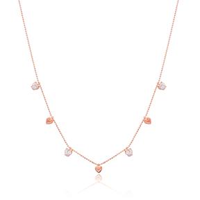Minimalist Heart Design Turkish Wholesale Handcrafted 925 Silver Necklace