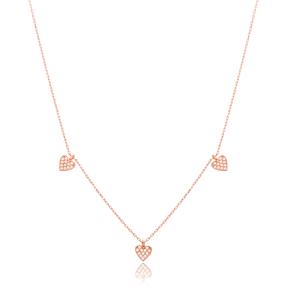 Tiny Heart Design Turkish Handmade Wholesale 925 Sterling Silver Jewelry Pendant