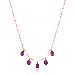 Dainty Shaker Teardrop Necklace Wholesale 925 Sterling Silver Jewelry