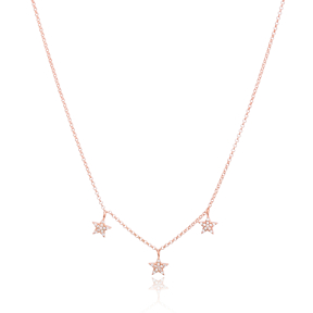 Dainty Shaker Star Design Turkish Wholesale Handcrafted 925 Silver Necklace
