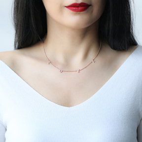 Love Design Turkish Wholesale Handcrafted 925 Silver Necklace