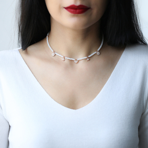 Delicate Shaker Necklace Turkish Wholesale Handcrafted 925 Silver Necklace