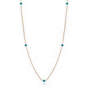 Evil Eye Design Turkish Wholesale Handcrafted 925 Silver Necklace