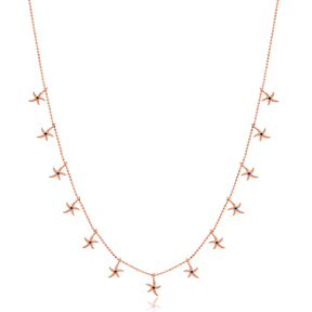 Trendy Starfish Charm Wholesale Handmade 925 Silver Sterling Necklace